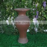 public place or home decoration antique tall floor fiberglass vases