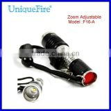 UniqueFire F16-A Lantern Led creates q5 Head Zoom Lens adjustable Flashlight