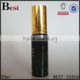 30ml cheapest price glass bottle lotion pump and golden cap essential oil cosmetics personal care wholesale free sample