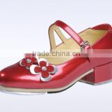 wholesale genuine cow flowers tap shoes for women and children