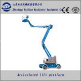 hydraulic knuckle boom lift platform for roof fix
