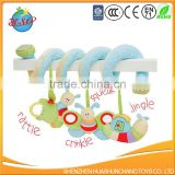 new born infant pram plush toy/Activity Spiral Cot Toy/Musical Crib Spiral Toy