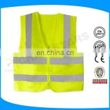 customized logo 100% polyester light weighted training reflective vest