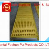 Tensioned Hook Polyurethane Vibrating Screen / Polyurethane Screen Mesh