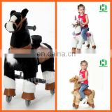 HI shopping mall running mechanical toy horse on wheels