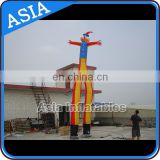 26' attractive blue double leg inflatable sky tube for promotion