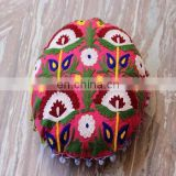 Flower Embroidered Suzani Round Cushion Cover Round Pillow Case 16'' CU5