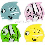 Silicone Fish Cartoon Swimming Caps for Kids