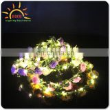 christmas wreath with led lights,women decoraticve led garland