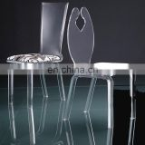 Wholesale high back clear acrylic chair