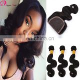 Wholesale price natural color 10 inch body wave brazilian hair bundles with closure