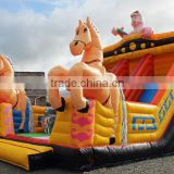 Hot sale giant horse inflatable slide,horse shape funny inflatable slide,horse design inflatable kids slide