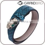 fashion snake skin leather bracelet individual python real leather hand chain whole handmade leather hand bands bracelet