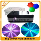3w blue laser / Big power RGB animation laser laser shower light