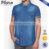 2016 Wholesale Bleach Washed Men's Denim Shirts