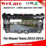 Wecaro WC-NT8061 Android 4.4.4 car multimedia system double din for nissan teana car multimedia player WIFI 3G 1080p