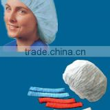 "disposable PP 10g/m2 non woven plated caps mob caps 18"" 19"" 20"" 21"" 24"" food industry head cover China supplier"