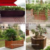 factory wholesale outdoor wooden flower plant box