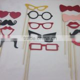 DIY Christmas Party Photo Booth Props Mask Mustache Glasses Funny For Wedding Birthday Party decoration