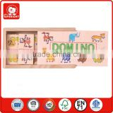 alibaba china wholesale 28 pcs plywood and pine wood material for 5.1 height lovely animal design wooden domino