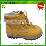 yellow winter ankle shoe for kids,men winter boots
