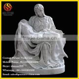 The Mourning of Christ white marble statue