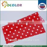 Cotton dot printed pvc coated cotton fabric for bags