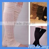 HOGIFT Wholesale women sexy over the knee length high socks, hollow winter lacework knitting boot socks