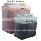 two component polyurethane adhesive for filter