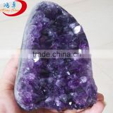 natural brazil amethyst geode/rock quartz amethyst crystal stone for gift
