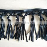15cm long PU knot fringe trimming for women clothes WTPB-032