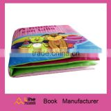 Fancy baby cloth book fabric book soft toy cognize book with BB sound