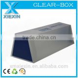 folding printing pyramid clear plastic box