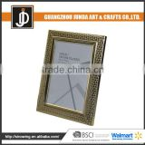 popular silver Metal Folded Photo Frame Beautiful Silver Plated metal silver photo frame