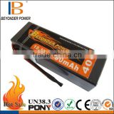 Competitive price hard case RC battery pack li-polymer 1000mah 3.7v rc battery, remote control RC battery OEM size