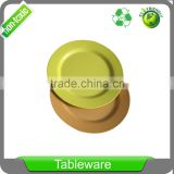 Biodegradable Eco Friendly Bamboo Fiber tableware large 10 inch round dinner plate set in gift box