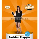 Halloween Carnival Party Cheap black short fringe woman flapper costume sexy flapper dress