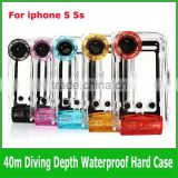 40m diving sealed Waterproof photo housing case Durable Water proof Bag Underwater back cover Case For waterproof iPhone 5 5s 5c