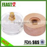 Promotion customized wooden cosmetic packaging, bamboo cream jar with wooden/bamboo lid