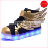 Mommy favored Kid Boy Girl Upgraded USB Charging LED Light Sport Shoes Flashing Sneakers with flying wings