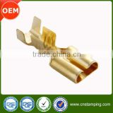 Automotive connector wire male and female brass terminal