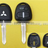 Replacement 3 Buttons Keyless Entry Remote Car Key Fob Shell Case With MIT11R Blade for Mitsubishi Lancer EVO