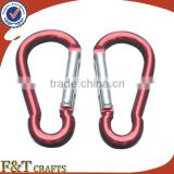 factory hot sale mountaineering hiking metal hook carabiner lanyard                                                                         Quality Choice