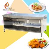1.8M reinforce frame Commercial hotel restaurant 304 Stainless steel kitchen cabient with door backsplash