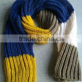 Popular Soft Chunky Acrylic Knitting Stripe Scarf