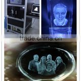 Assiduous Technical Diode Pumped Green Beam Scanner 3D Scene Crystal Gifts Laser Engraving Machine