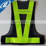 Word printed construction led reflective vest garment sanitation reflective blue safety vest