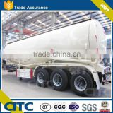 China manufacturer 3 axle truck coal ash /used bulk cement / bulk powder material tanker semi trailer truck