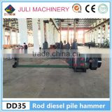 INQUIRY ABOUT China new Dongtai Juli brand DD35 rod type diesel pile drive hammer