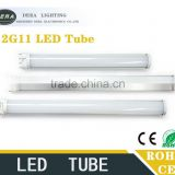 Good quality emergency led tube light Aluminum+PC 15w 4pin 2g11 base led pl lamp 2g11 dimmable led tube